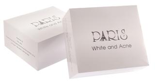 หน้าตาของสบู่ Paris White & Acne แบบนี้นะคะ ที่ใช้อยู่
