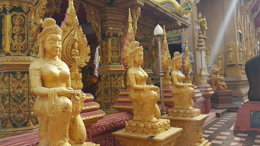 พาเที่ยว วัดใต้พระเจ้าใหญ่องค์ตื้อ จังหวัดอุบลราชธานี ที่มีพุทธรูปเป็นทอง